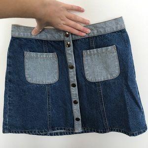 Jean BDG skirt